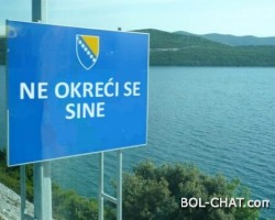 """At the border crossings in BiH, placed a table with the inscription """"Do not turn the son"""""""