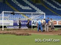 Na Grbavici počele pripreme za utakmicu reprezentacije BiH protiv Belgije (FOTO)