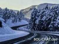 Na većini planinskih prevoja u BiH poledica i snijeg