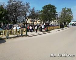 Stille Proteste der entrechteten Arbeiter der Festung von Gracanica