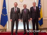 Članovi Predsjedništva s Hahnom: Evropski put BiH nema alternativu